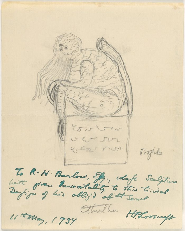 Lovecraft's own rendering of Cthulhu