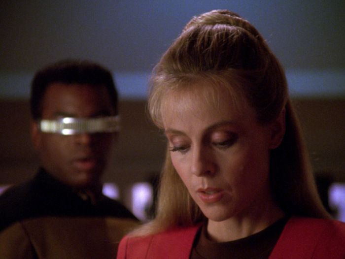 Geordi, Hannah, and the allegedly all-important visor