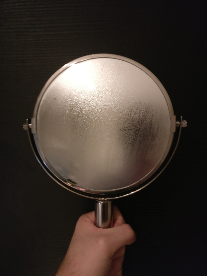 Steam on a mirror — a metaphor for our brief existence