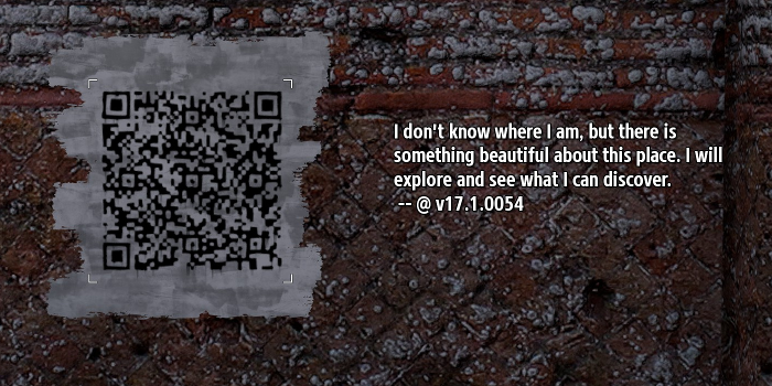 An early in-game QR code